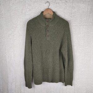 GH Bass & Co Green Button Sweater Size XL